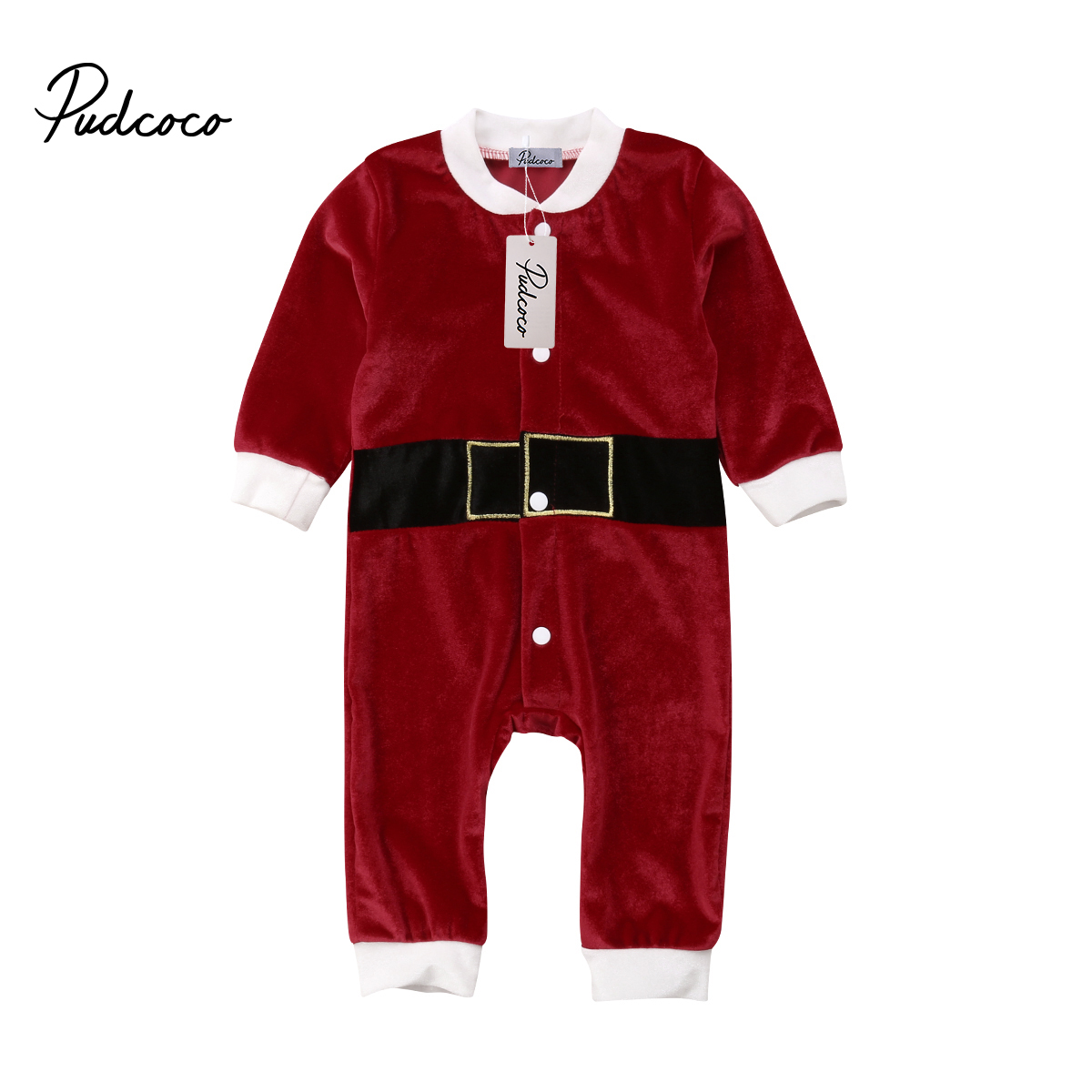 US Newborn Baby Boy Girls Christmas Romper Jumpsuit Bodysuit Playsuit Clothes