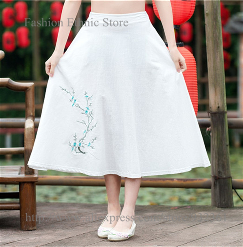 Popular Womens Long White Cotton Skirts-Buy Cheap Womens Long ...