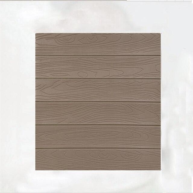 Geluidsisolatie 3D Effen Kleur Zelfklevende DIY Muurstickers PVC Panelen  Eetkamer Slaapkamer Houten Patroon Thuis KTV Bar Decor in Geluidsisolatie  3D ...