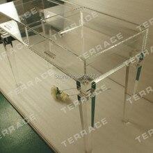 Прозрачный акриловый туалетный стол с ящиками, прозрачный люцит консольный стол