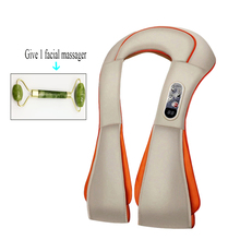 цена на Infrared Heated Kneading Shiatsu Back Neck Shoulder Body Massager Home Electrical Multifunctional Shawl Massager