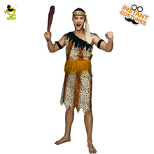 Adult Men Jungle Caveman  Costume Cosplay Carnival Original Stone Age Stag The Croods Performance Halloween Party Caveman Suits