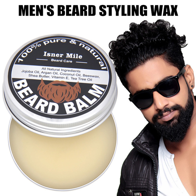 60g Male Beard Styling Wax Men Beard Care Cream Moisturizing Beard Care Grooming Pliable Molding Wax Texturized