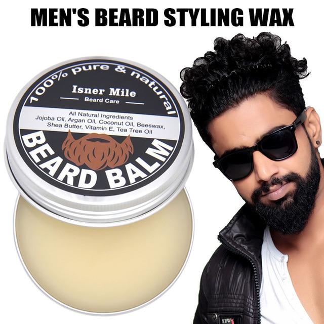 60g Male Beard Styling Wax Men Beard Care Cream Moisturizing Beard Care Grooming Pliable Molding Wax Texturized