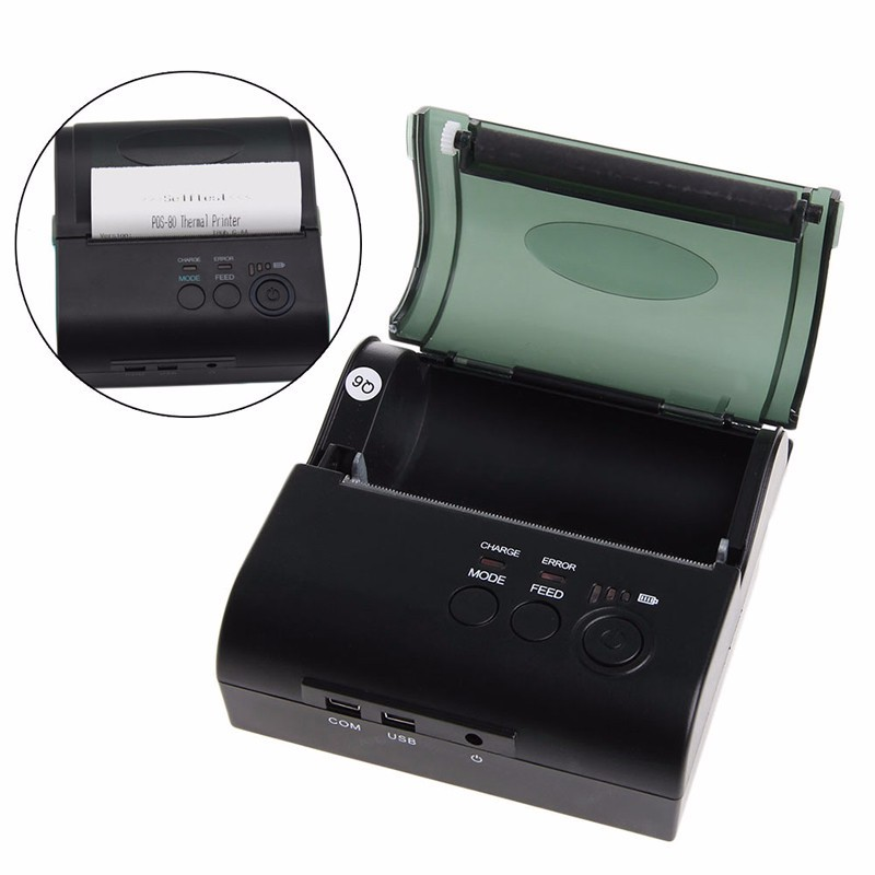 MHT-8001 Wireless Thermal Printer with Battery Android And IOS System Bluetooth Mobile Thermal Printer mht l58a bluetooth marketing device wireless wired pos thermal printer android tablet with rs232