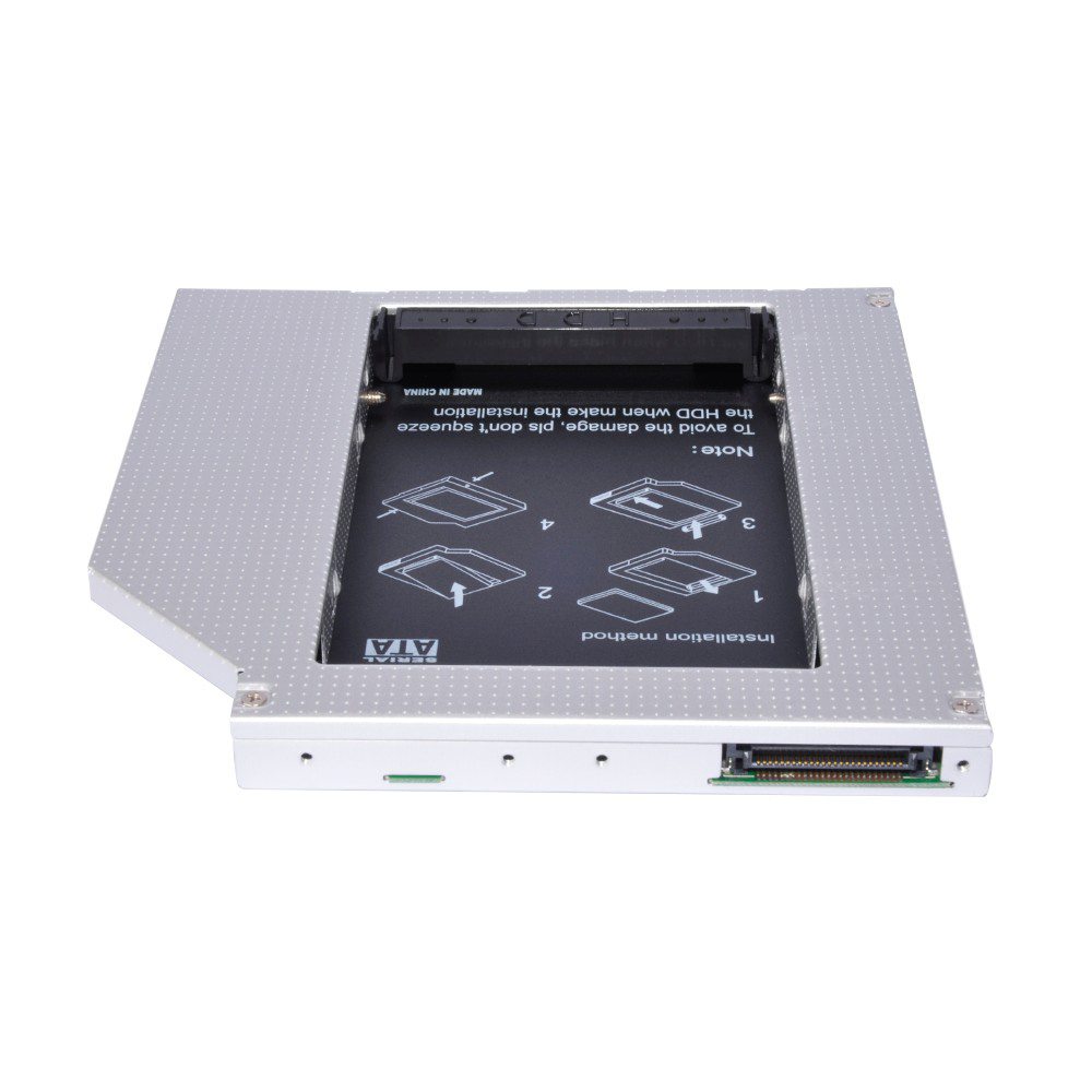 Neue 12,7mm Universal Aluminium-legierung. HDD Caddy IDE zu SATA 2,5