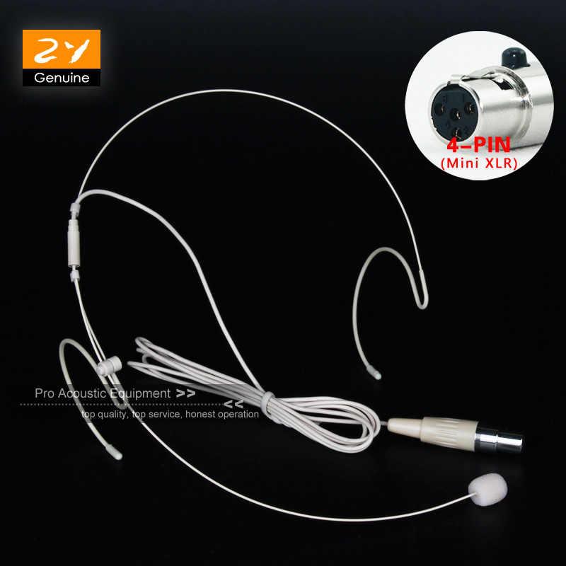 Beige Warna Mini XLR 4 Pin 4PIN TA4F Konektor Plug Kondensor Mikrofon Headset MIC untuk Shure Wireless Bodypack Transmitter