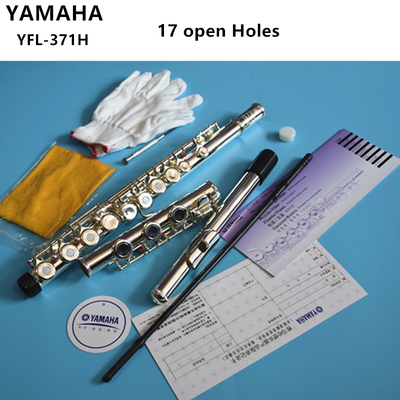 High Quality Japan Flute YFL-371H Student Flutes Silver Plated 17 Holes Open Hole With E key Flauta Musical instrument With Case new flute 17 hole open silver plated key e key high quality ebony wood 5