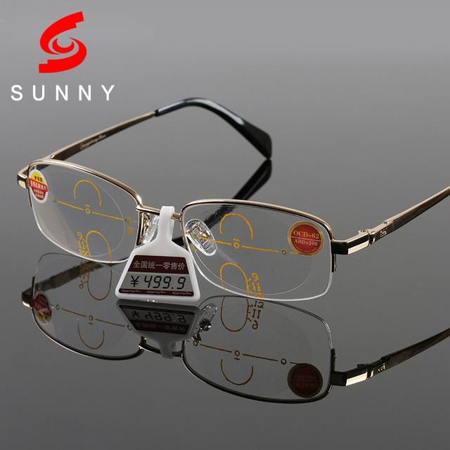 3084bd48ef5a4 Excellen Calidad Bifocales Gafas de Lectura de Los Hombres Gafas de  Presbicia Lentes Multifocales Progresivas Lentes