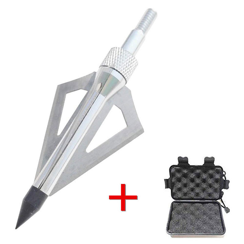 Image 2 - 12pcs Archery Blade Arrowhead With 1pc Broadhead Box 3 Fix Blade 100Gr Target Point Tips Hunting Shooting Arrow Accessories-in Bow & Arrow from Sports & Entertainment