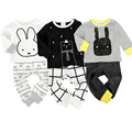 Fashion Baby Boy Girl Clothes Sets Cotton Cartoon Animal Long Sleeve Baby Clothing Set T-Shirt+Pants 2pcs Suit Newborn Outfits