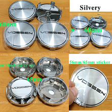 цена на 4PC Auto Decal silvery 68mm 65mm 60MM wheel center cap For VOSSEN Sticker Emblem Badge 56mm 65mm Wheel Covers Hub Caps Sticker