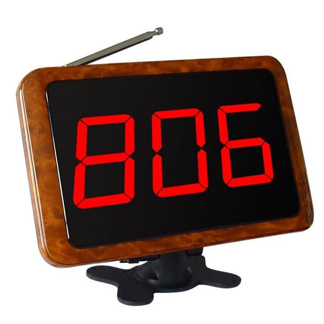 Singcall. wireless chamando receptor de madeira sistemas de chamada de garçom para restaurante self, loja, hospital