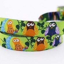 Green Owl Cartoon Style Jacquard Webbing Zakka Sewing Label Santa Claus Cows Penguins Ribbon Sewing Tape Ribbons For DIY
