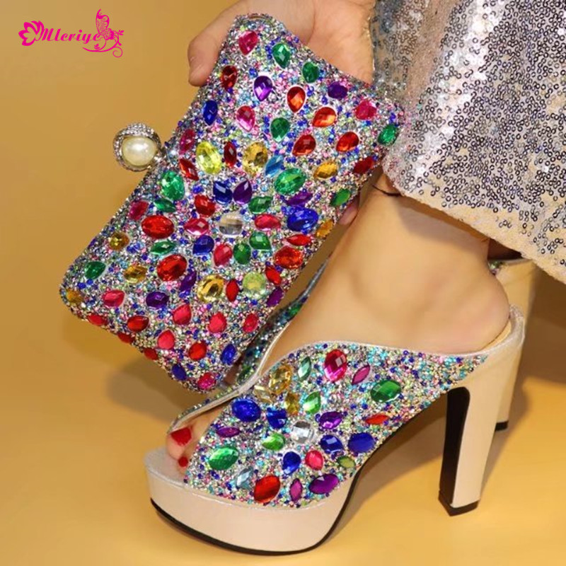 New Arrival Italian Shoes with Matching Bag Set Decorated with Appliques Nigerian Women Wedding Shoes and Bag Eleagnt Italy Shoe new arrival african women matching italian shoe and bag set decorated with appliques nigerian shoes and bag bch 27