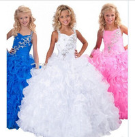 Flower girl dresses TK1112 real picture of customized good quality based on customer's detail size