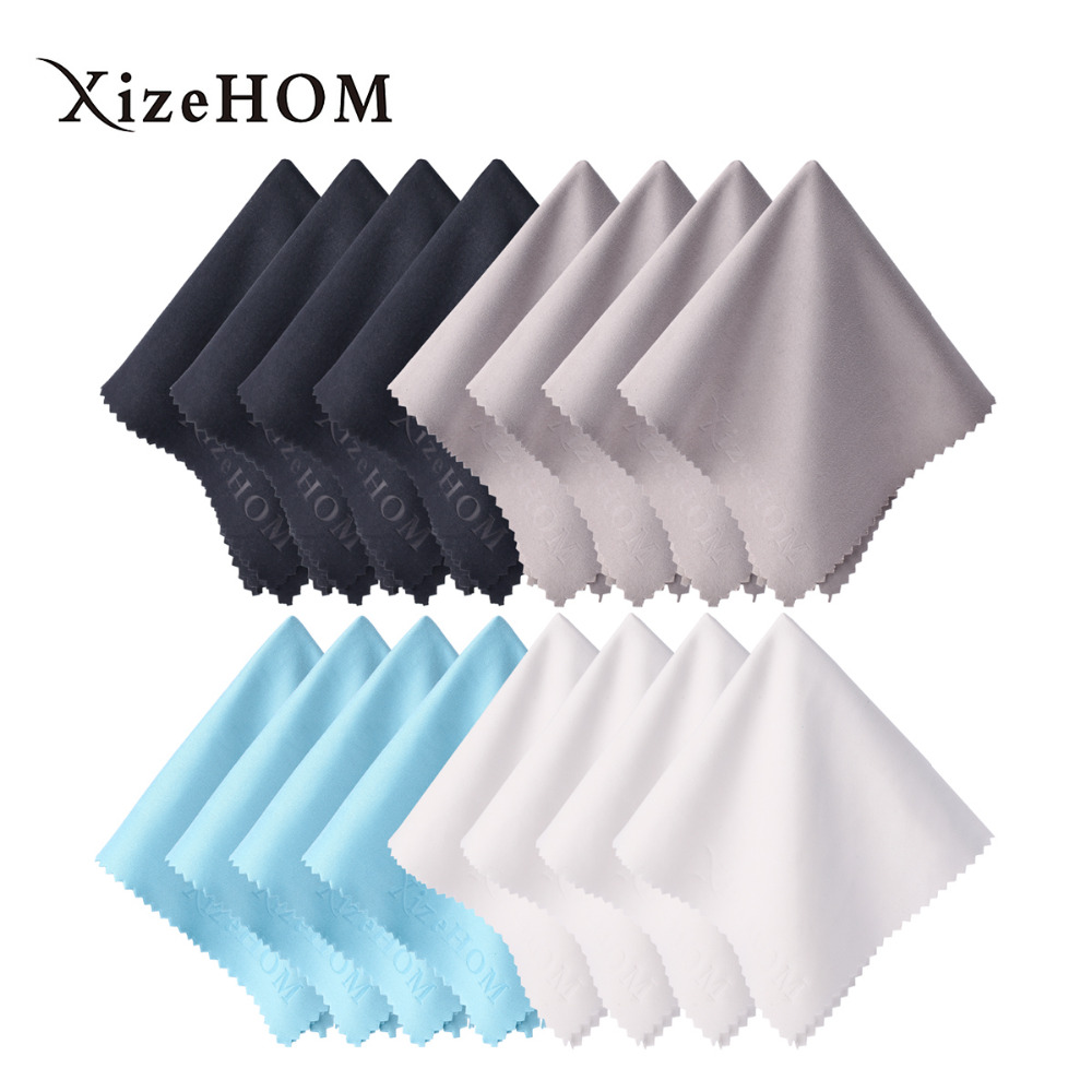 XizeHOM Microfiber Cleaning Cloth for Glasses Spectacle Lens Screen Camera Household Cleaning Tools Accessories (20*20cm/16pcs)