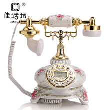 The story of European Fashion Square antique telephone telephone landline phone phone Garden european antique telephone set classical rotary dial telephone resin classical telephone