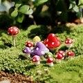 8 unids/set kawaii Decoraciones de Setas 1.3 cm de hadas miniaturas jardín decorativo Micro materiales de Jardinería Bonsai Planta de Jardinería