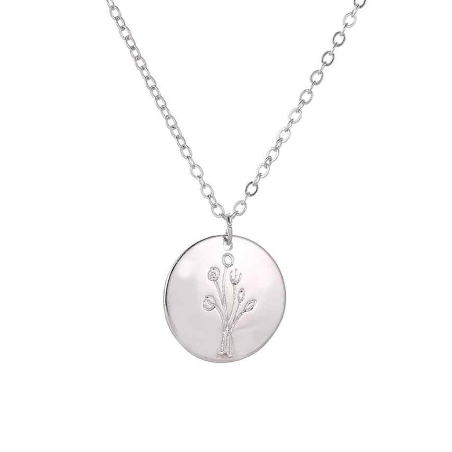 2019 nowy proste drzewo życia wisiorek wafel naszyjnik złoty kolor srebrny metalowy łańcuszek do obojczyka naszyjnik Choker komunikat biżuteria Hot