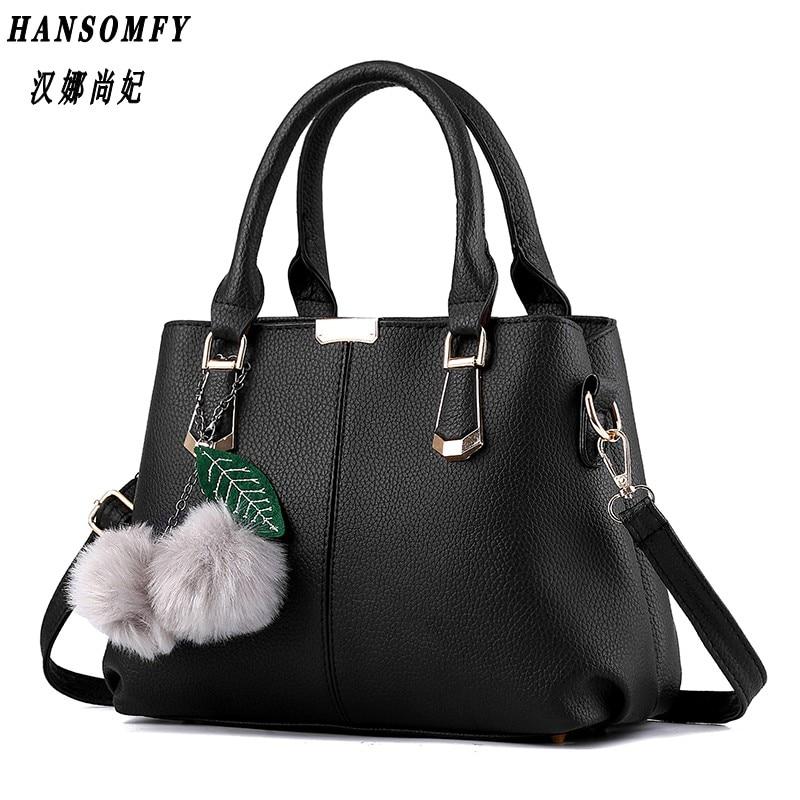 100% Genuine leather Women handbags 2017 New female bag sweet lady fashion handbag Messenger shoulder bag