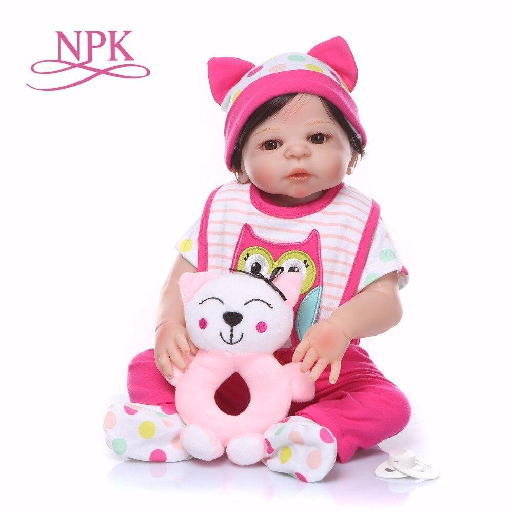 19inch 48CM Boneca Full body soft silicone Vinyl bebes Reborn Baby Doll Toys Lifelike Child Birthday