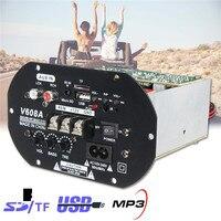 KROAK 80W High Power Bass Car Subwoofer Hi Fi Amplifier Board TF USB 12V 110V 220V