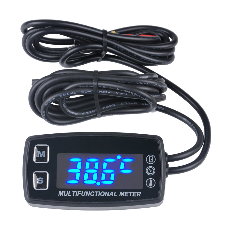 цена на LED Tach/Hour Meter thermometer temperature meter for gasoline marine outboard paramotor trimmer cultivator tiller RL-HM035LT