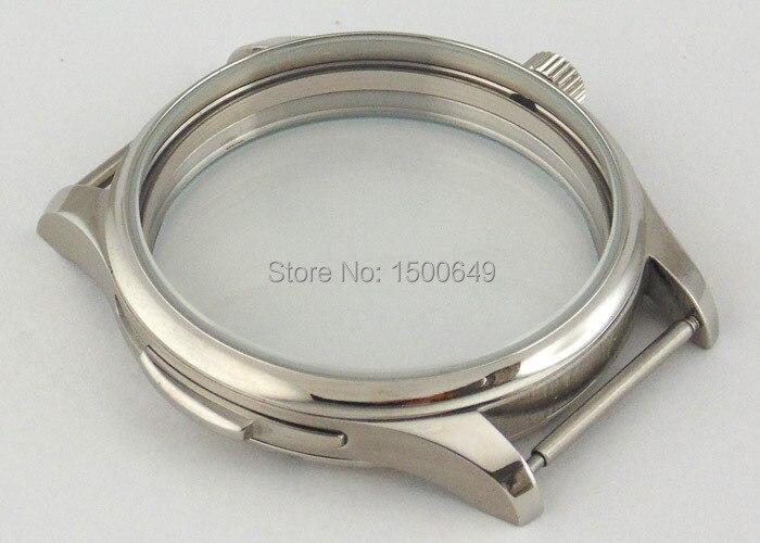 f4e756c5fb5 Caso Parnis aço inoxidável 44mm fit 6497 6498 ST36 movimento mecânico mens  watch P197