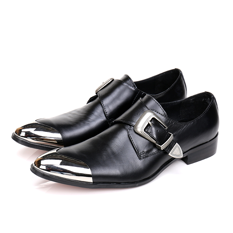 Christia Bella Men Dress Shoes Office Business Genuine Leather Shoes Pointed Toe Men Oxfords Wedding Monk Strap Shoes Mens Flats christia bella italian fashion business men dress shoes genuine leather pointed toe wedding formal shoes plus size office shoes