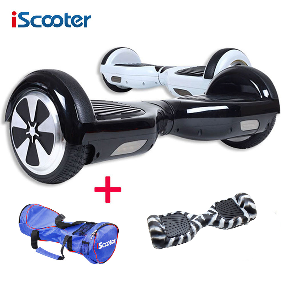 iscooter hoverboard electric skateboard steering wheel 2. Black Bedroom Furniture Sets. Home Design Ideas