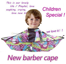 1pc Lovely Children Barber Cape Kid Convenient Fold Hair Cut Hairdressing styling tools hairdresser supplies apron Waterproof