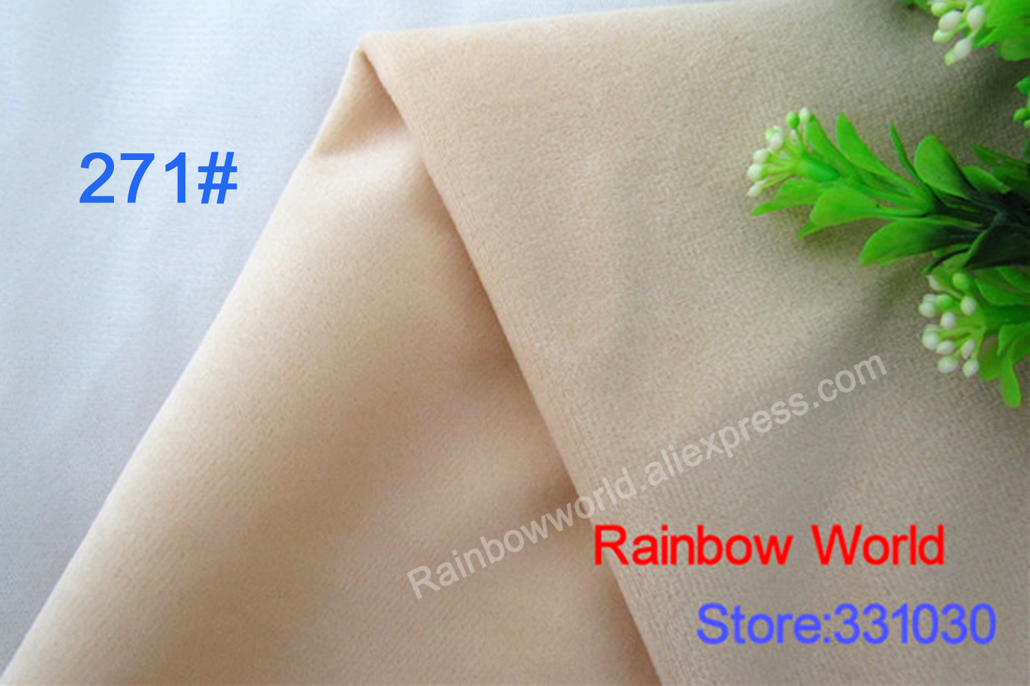 271# Skin Color High Quality Super Soft Short Hair 0.5-1.5mm Fleece Fabric Velvet Microfiber for DIY Patchwork Toy Sofa Pillow