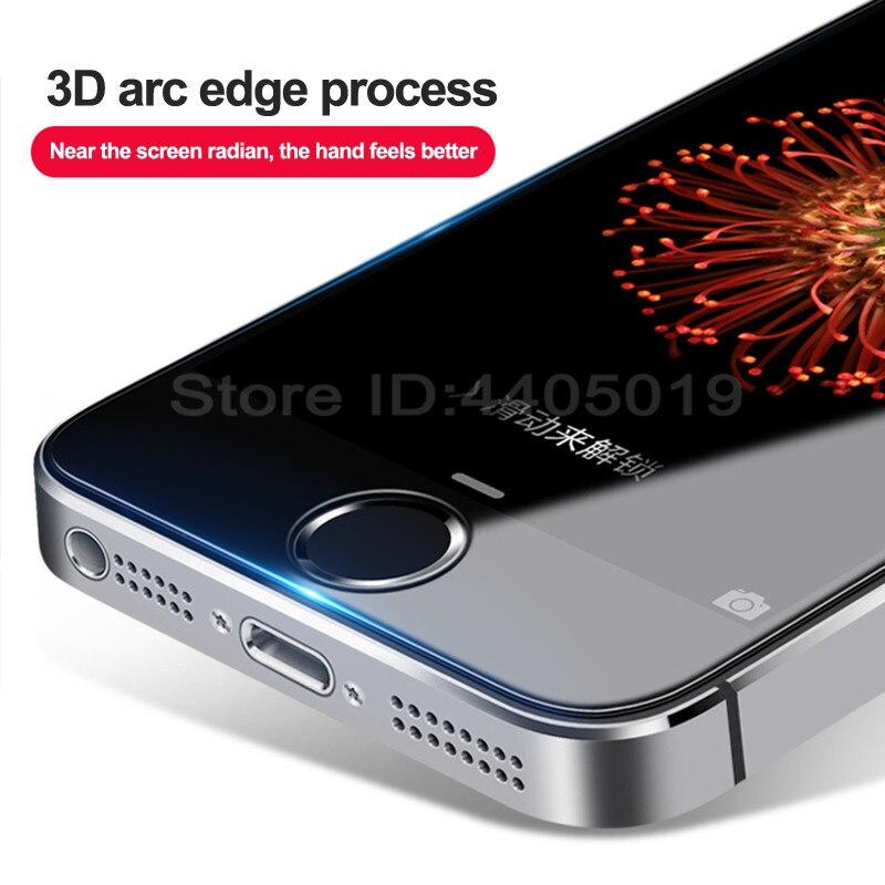 מזג זכוכית על עבור Apple iPhone 5S 5 SE 5C מסך מגן 9 H אנטי פרץ מגן סרט זכוכית עבור iPhone 5S Se 5 מקרה