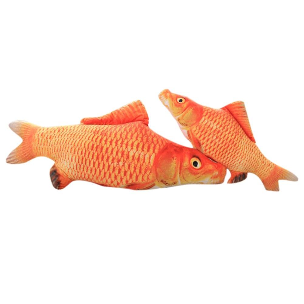 Toys For Fish : Cat favor fish toy plush stuffed shape toys