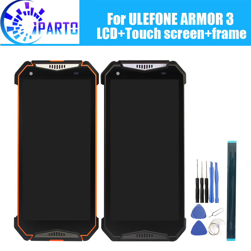 ULEFONE ARMOR 3 LCD Display+Touch Screen Digitizer +Frame Assembly 100% Original New LCD+Touch Digitizer for ULEFONE ARMOR 3