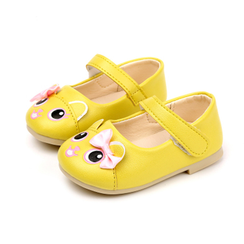 Spring/Autumn Baby Girls Shoes Kids Leather Princess Shoes Children Soft Bottom School Shoes Cute Cartoon Baby Shoe