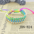 New products listed fluorescent color thread woven friendship bracelets&bangles chain gold bracelet  for mens  JBN-824