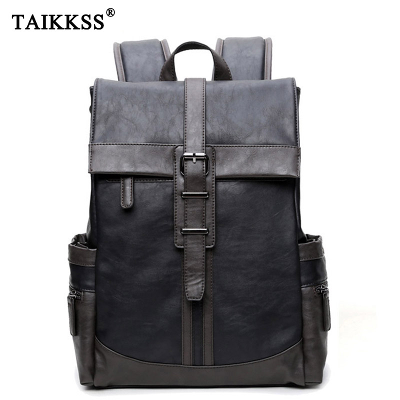 Fashion Men Backpack pu Leather Men Bag Backpacks school for teenagers grils boys Bag Waterproof Backpack Bag For Men mochila