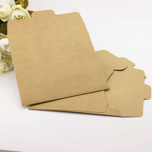 Дешевые 50pcs/lot 12.5*12.5cm 250G Kraft Paper CD Bag Envelope Antique Import Kraft Paper Bag Can Put a CD Pearl Paper Bag