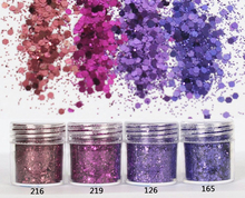 4X 10ml Purple series shiny glitter Sequins for jewelry diy making,Nail Glitter Powder For nail art decoration,Flake