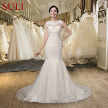 SuLi SLJ-006 O-neck Sleeveless Backless Wedding Dress