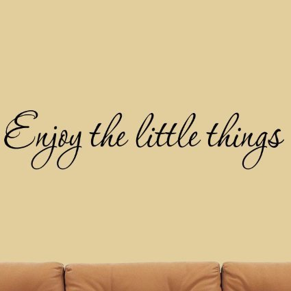 English Quote Enjoy The Little Things Vinyl Wall Decal Saying