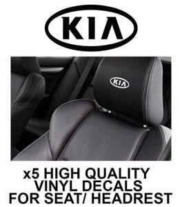 5 шт. логотип KIA подголовник автомобильные наклейки на сиденья виниловые наклейки-графика X5 10.2x5.1cm