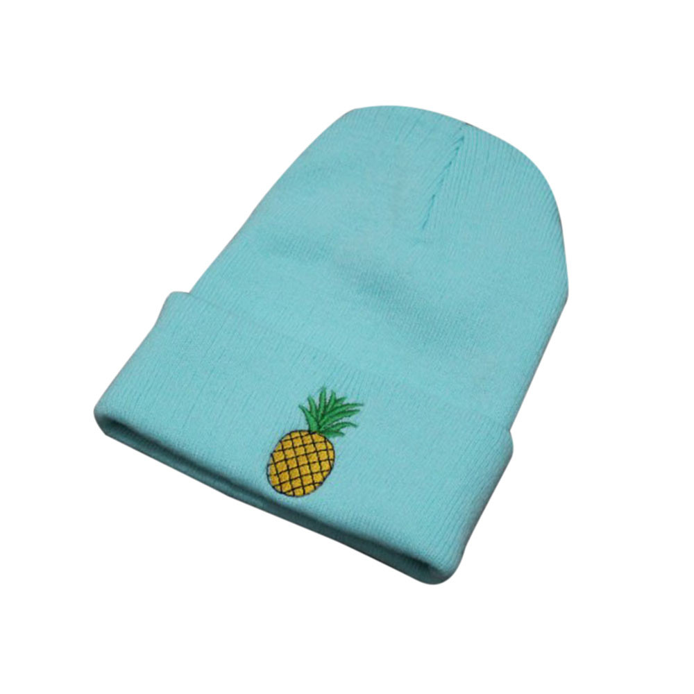 Winter Hats For Women Girl Rose Embroidered Beanie Stocking Cap Hiking Cuffed Knit HatTouca Feminina Gorras Mujer