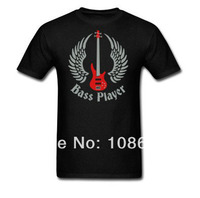New Arrival Mans Printed T Shirts Bass Guitar Custom T Shirts High Quality Cotton Fashion Casual