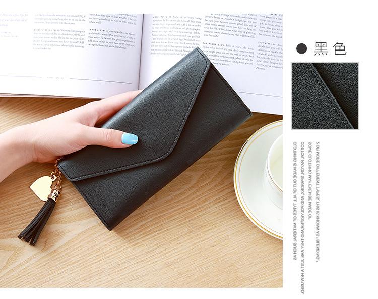 Женщины кошельки многофункциональный PU кожа женщин's долго дизайн Кошелек женский карты держатель длинный Леди кисточкой клатч кошелек мешок денег