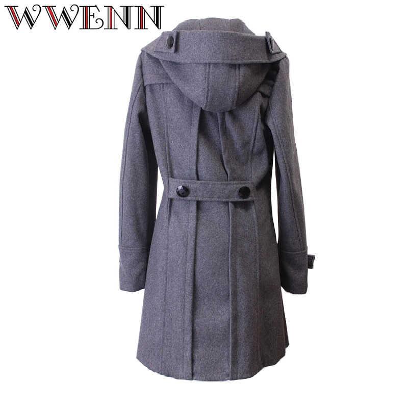 WWENN осенне-зимняя куртка женская Кашемировые Куртки женское длинное пальто теплые парки Jaqueta Feminina Inverno пальто шерстяное chaquetas mujer