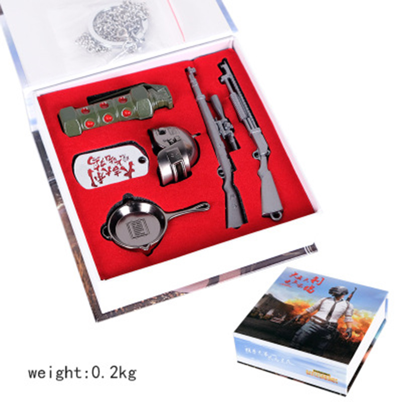 New Game PUBG Playerunknown's Battleground Keychains Necklace Cosplay Zinc Alloy Jewelry Accessories New in Box Gifts