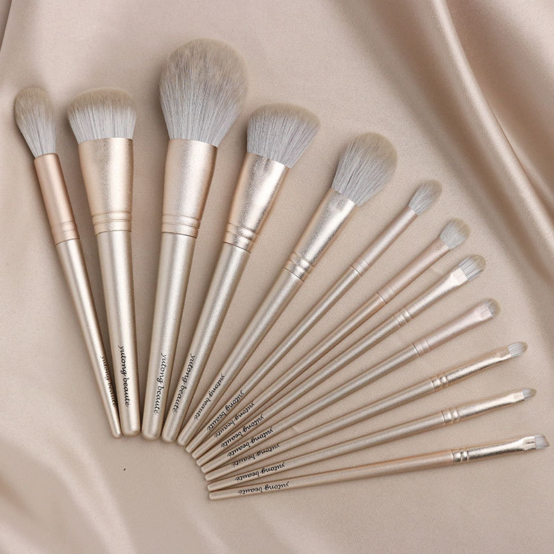 Yutong 2019 New Year Collection 12 Brushes Set Shiny Golden Handle Very Soft Bristle Beauty Makeup